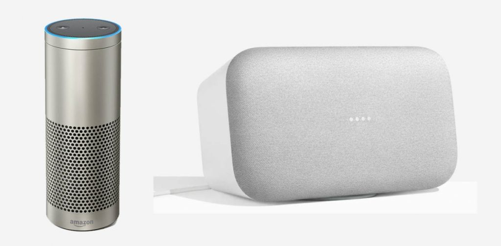Echo Plus and Google Home Max